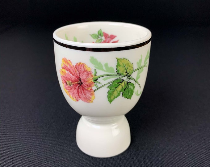 Vintage 1960s Syracuse China Flowers of the Southland Pattern Restaurant Ware Double Egg Cup