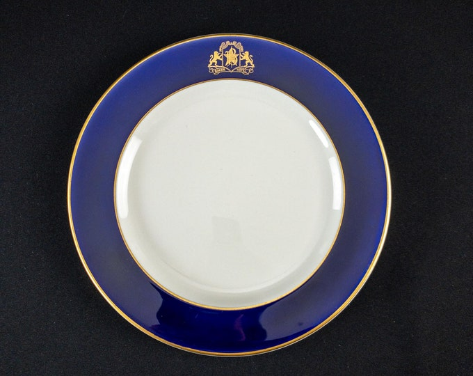 "1941 Baker Hotel Dallas Texas Restaurant Ware Dinner Plate 9 3/4"" By OPCo Syracuse China"