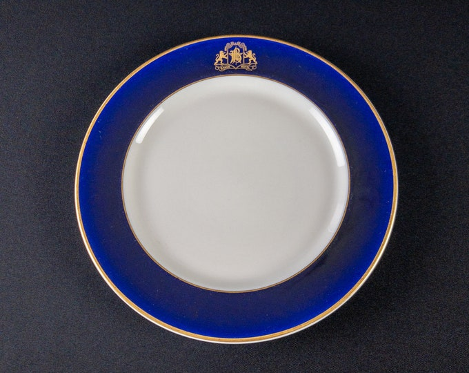"""Baker Hotel Texas 9 3/4"""" Dinner Plate Restaurant Ware By OPCo Syracuse China 1940s"""