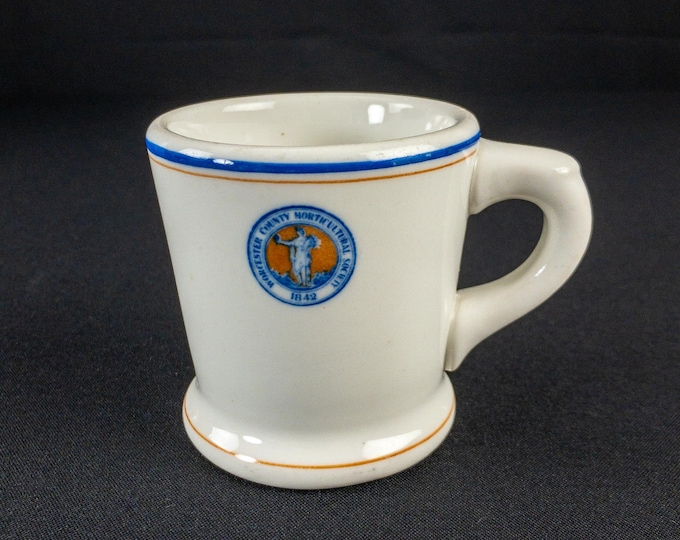 1924 Worcester County Massachusetts Horticultural Society Restaurant Ware Mug Lamberton Scammell's China