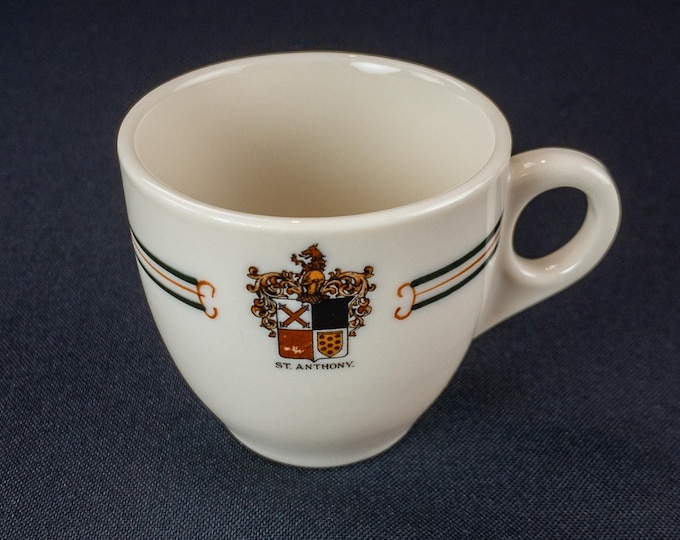 Vintage 1930s St Anthony Hotel San Antonio Texas Restaurant ware Demitasse Cup OPCo Syracuse China