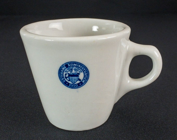 1931-1968 Veterans Administration Coffee Cup Restaurant Ware By TEPCO
