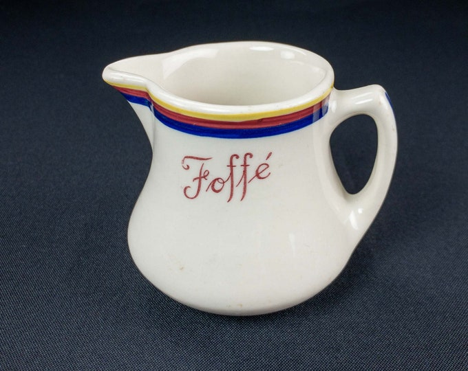 Vintage 1950s Hand Painted Foffe's Restaurant Brooklyn New York Ware Creamer Shenango China
