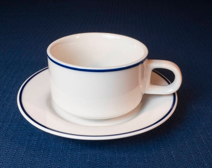 "Vintage American Airlines ""American Traveler"" (AAL-1) Pattern Cup Domestic First Class Cup (Michaud) Saucer (Wessco) Circa Late 1970s-1990"