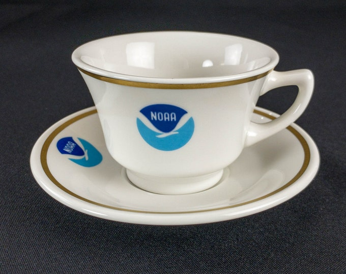 National Oceanographic and Atmospheric Administration NOAA Restaurant Ware Cup and Saucer by Mayer China
