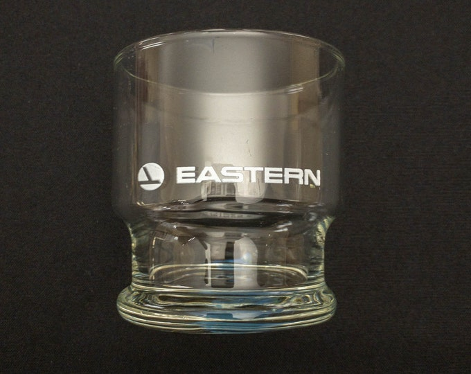 Vintage Eastern Airlines Old Fashion Rocks Lowball Glass 8 ounce