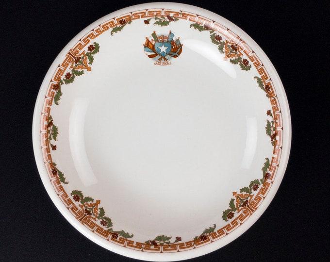 Rice Hotel Houston Texas Restaurant Hotel Ware Soup Bowl by Shenango China Circa 1930-1948