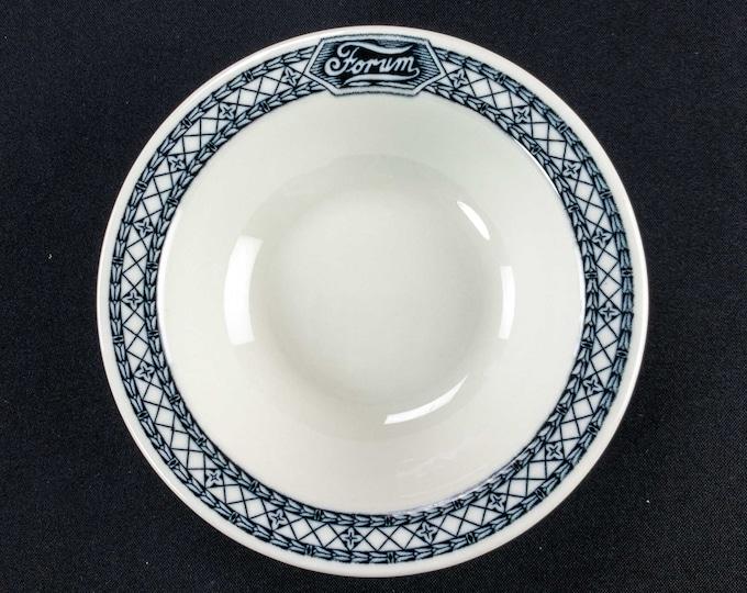"Vintage 1930s-50s Forum Cafeteria Restaurant Ware Art Deco Style 6.25"" Bowl By Shenango"
