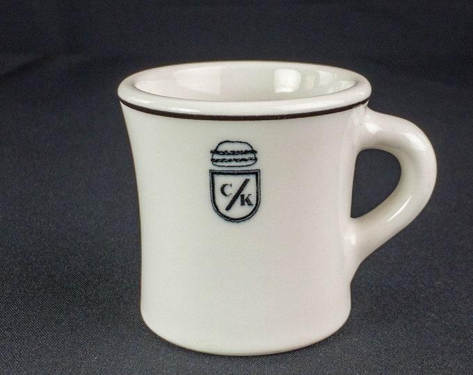 Black & White C/K Hamburger 6 Ounce Coffee Mug Restaurant Ware by Sterling China