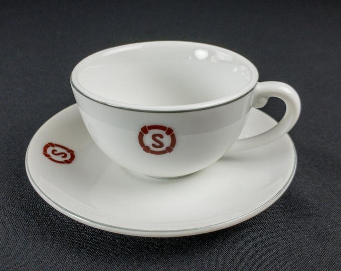 1970s Showa Shipping Line Maritime Company Japan Cup & Saucer