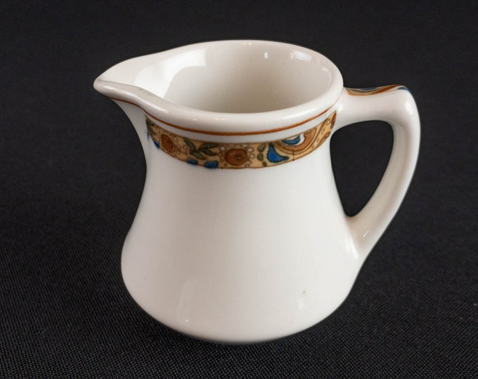 Scammell Trenton China Restaurant Ware Creamer Made Expressly for Reichle Sons Co Detroit Emil Schnepf Design Pattern