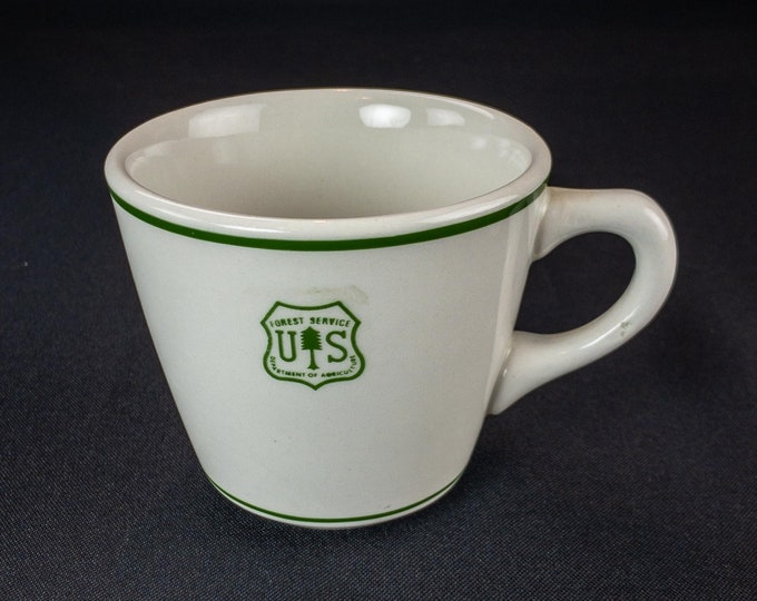 Vintage 1980s US Forest Service Department of Agriculture Restaurant Ware Cup Jackson China