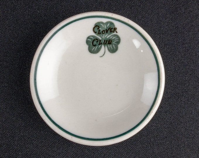 Clover Club Allentown PA 3 Inch Butter Pat Restaurant Ware By Greenwood China Distributed By L H Yeager Co