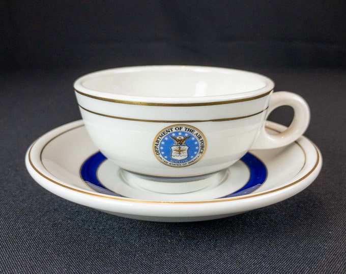 1970s USAF United States of American Department of the Air Force Restaurant Ware Cup and Saucer By Shenango China