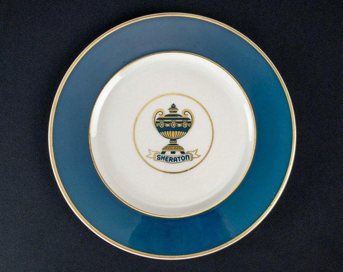 "1950s Sheraton Hotel Restaurant Ware Service Plate 10 3/4"" Diameter by Walker China"
