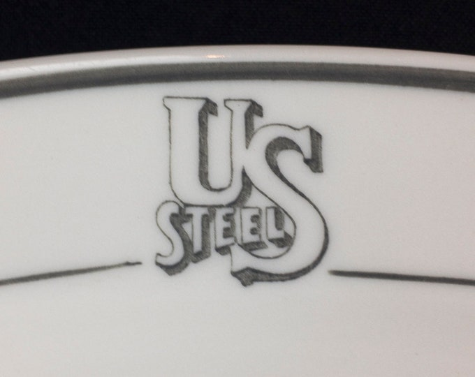 Vintage 1950 United States Steel Corporation Restaurant Ware Platter River Transportation Department Pattern By Mayer China