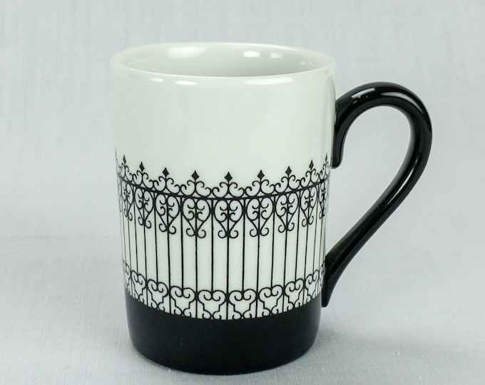 American Airlines Restaurant Ware Demitasse Cup Colonial Iron Fence Pattern Circa 1968 by Mayer China
