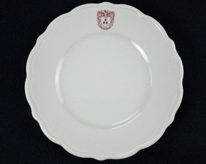 Vintage 1974 Rice University Brown College Restaurant Ware Bread Side Plate 6.5 Inch Diameter
