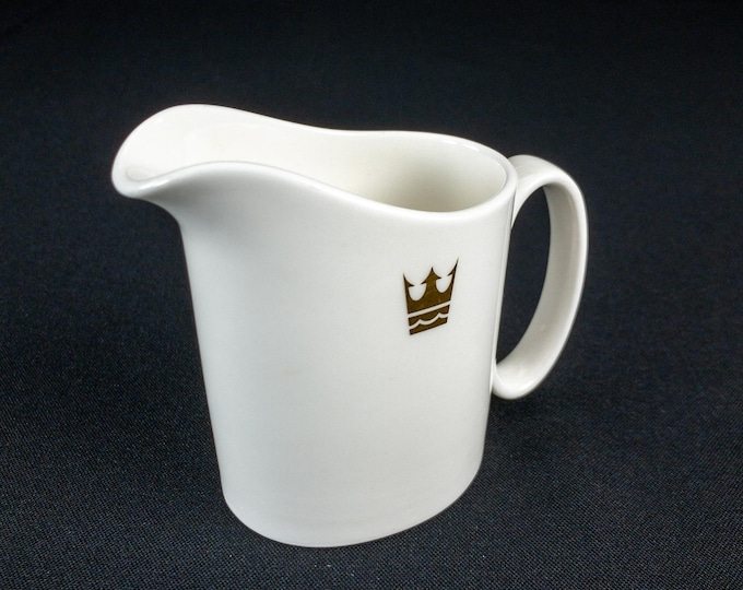 1990s Royal Cruise Line Golden Odyssey Pattern Restaurant Ware Creamer By Royal Doulton