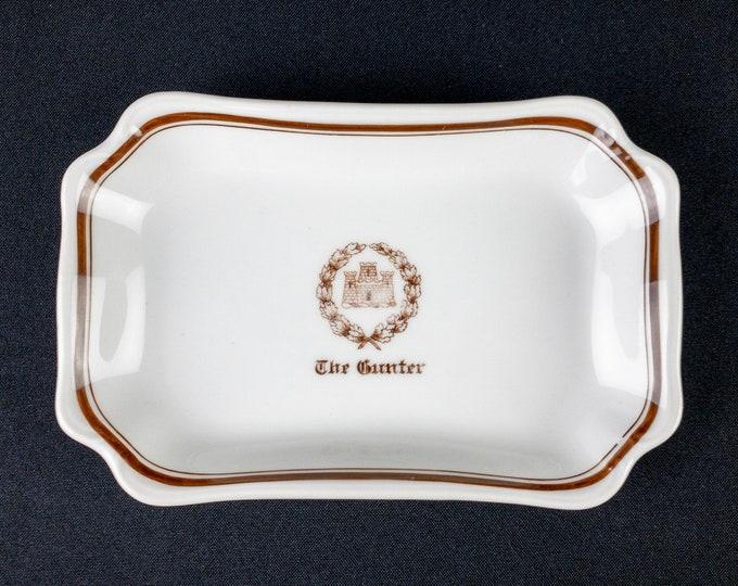 "Antique Gunter Hotel San Antonio Texas 7-1/2"" X 5"" Rectangular Tray Dish Restaurant Ware By W G Limoges France For Burley & Company Chicago"