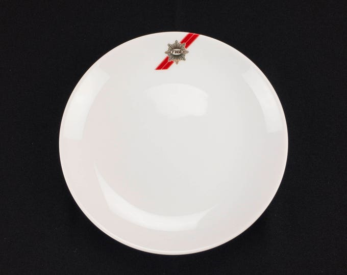 Vintage Trans World Airlines TWA 7 Inch Diameter Restaurant Ware Plate 44-1698 by Abco International