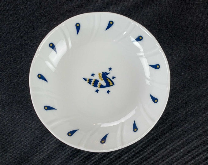"1970s Air France Airline First Class Service Designed by Jean Picart Le Doux Restaurant Ware 5 1/8"" Fruit or Nut Bowl made by CIM Porcelaine"