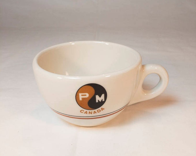 Pickands Mather Labrador Steamship Company Canada PM Canada Coffee Cup by Walker China Date Code 6-44 for Jun 1966