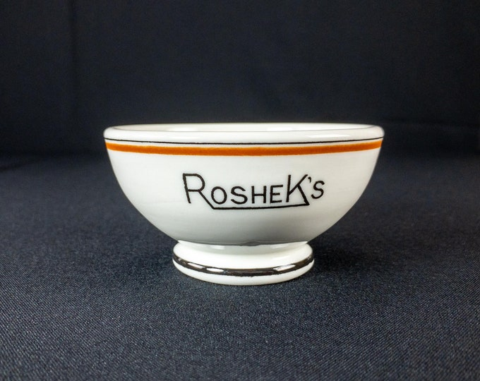 1960s Roshek Brothers Department Store Dubuque Iowa Restaurant Ware Footed Bowl By McNicol China