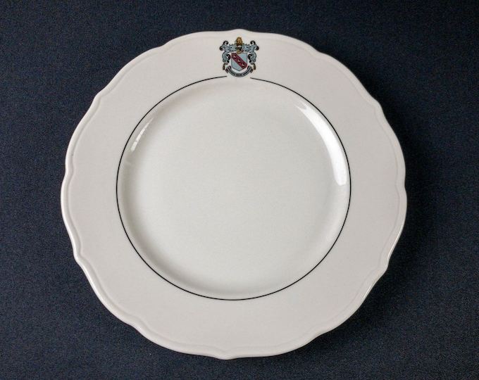 "Rice University Baker College Houston 9-5/8"" Dinner Plate Restaurant Ware By Syracuse China Circa 1988"