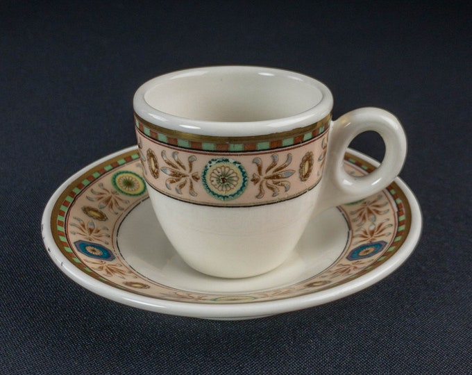 Hotel New Yorker Demitasse Cup and Saucer Restaurant Ware Lamberton China by Scammell
