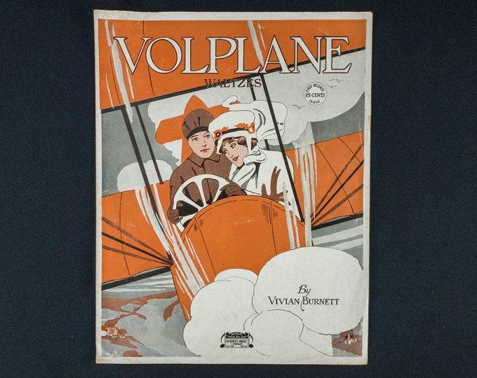 1917 Sheet Music Volpane Waltzes By Vivian Burnett McKinley Music Company New York