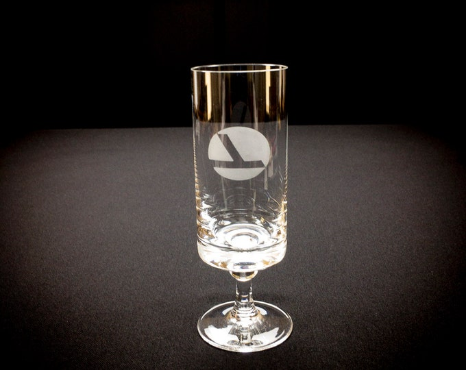 Vintage Eastern Airlines First Glass In-Flight Rosenthal Crystal Champagne Glass Flute Circa 1991