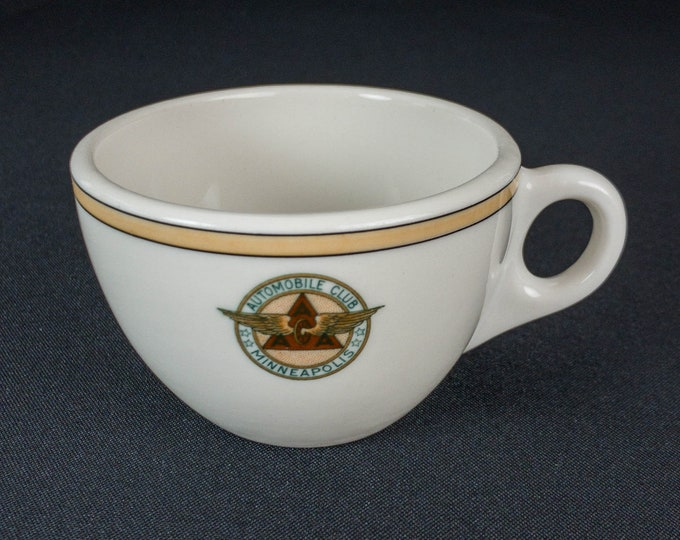 Minneapolis Automobile Club Coffee Cup Restaurant Ware by Syracuse China