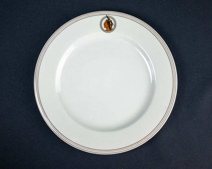 Vintage 1960s Syracuse China Hotel Baker St Charles Illinois 9 Inch Restaurant Ware Plate