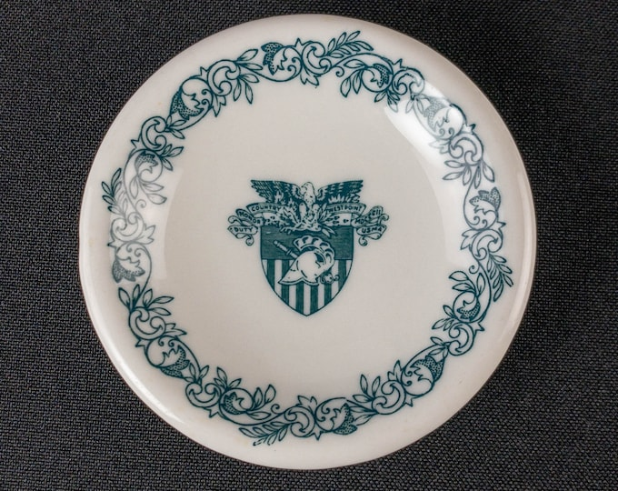 US Military Academy West Point Cadet Mess Dining Hall Restaurant Ware Butter Pat