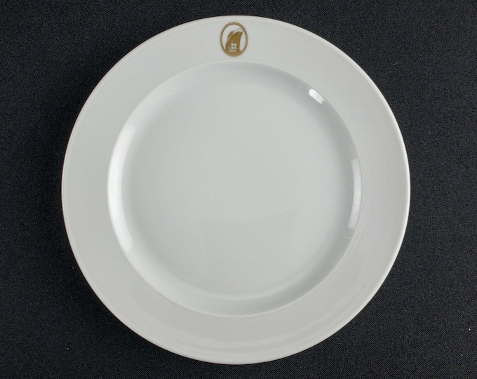 "1960-70s Holland America Line Gold Emblem HAL Dinnerware 7 1/2"" Restaurant Ware Variations By Rosenthal China Germany Tapio Wirkkala Design"