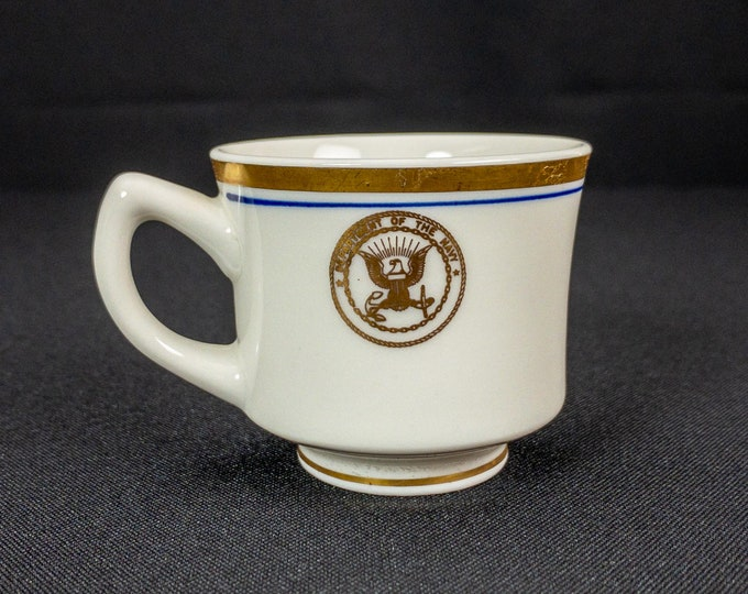 1960s Vietnam War Era Department Of The Navy Small Restaurant Ware Demitasse Cup By Jackson China