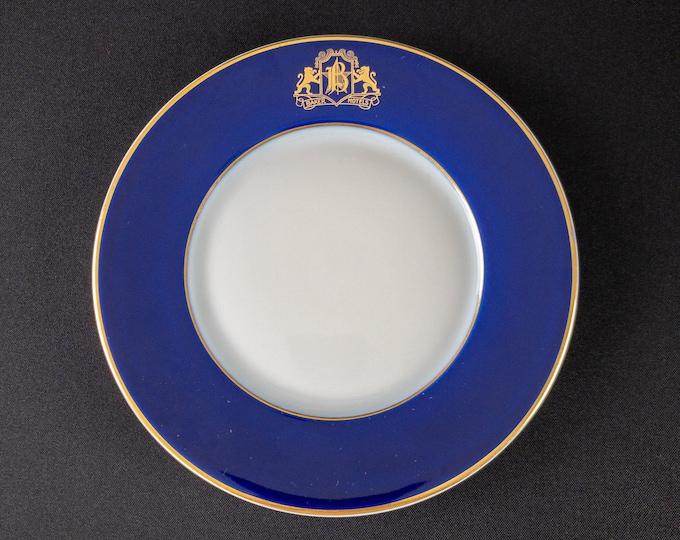 "Baker Hotels Texas 7-3/4"" Side Plate By Bauscher Weiden Bavaria Germany 1925"