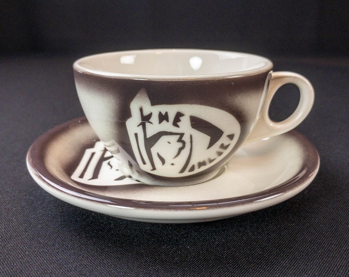 The Pimlico Restaurant Hotel Ware Airbrush Coffee Cup And Saucer Jackson China