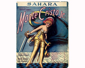 1919 United States Prohibition Song Sheet Music - Sahara (We'll soon be dry like you)