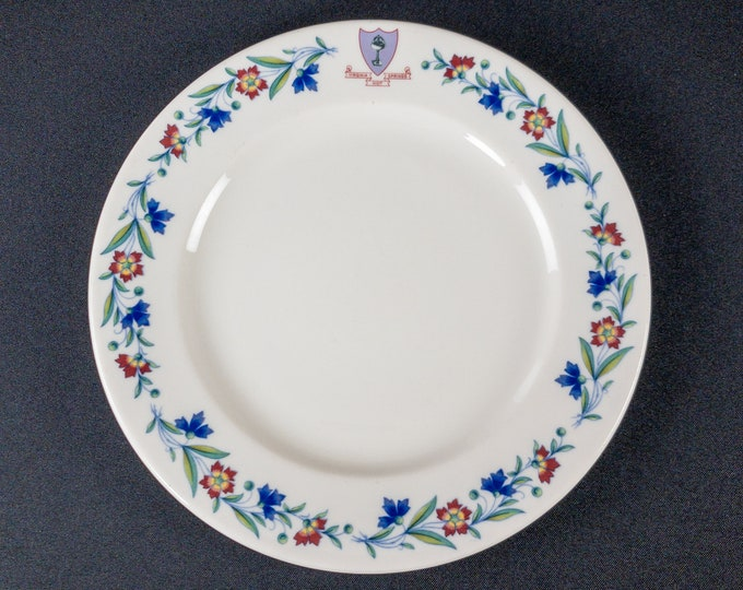 """Homestead Hotel Hot Springs Virginia 9-3/4"""" Plate Restaurant Ware By Syracuse China 1964"""
