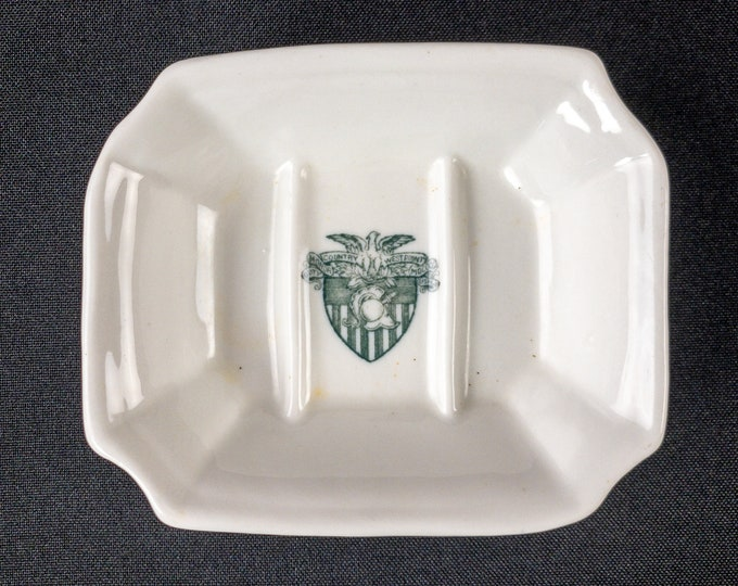 Rare United States Military Academy West Point Army Soap Dish Kniffin & Demarest Co New York