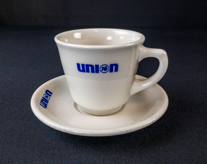 Union 76 Oil Company Cup And Saucer Restaurant Ware By Syracuse China Petroliana