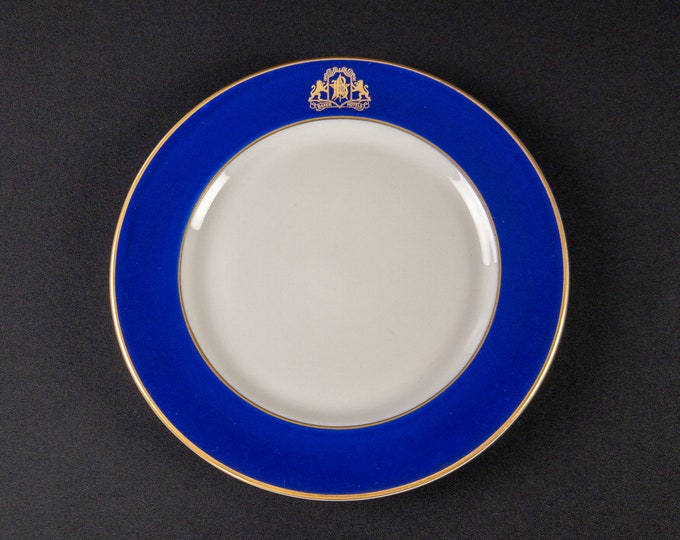 """Baker Hotels Texas 9 3/4"""" Dinner Plate Restaurant Ware By OPCo Syracuse China 1930s"""