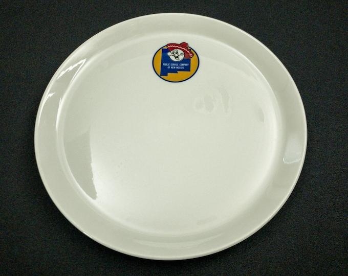 "Reddy Kilowatt Pattern 9-7/8"" Dinner Plate Restaurant Ware By Shenango China 1960s"