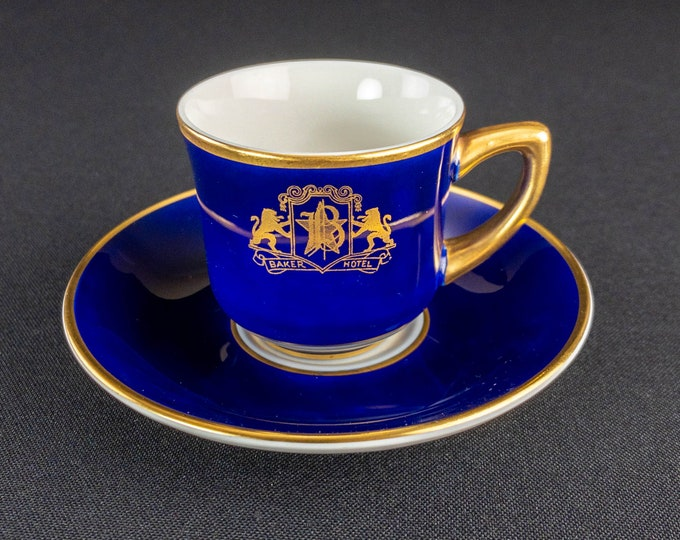 Baker Hotel Demitasse Set After Dinner Coffee Cup Saucer Restaurant Ware By OPCo Syracuse