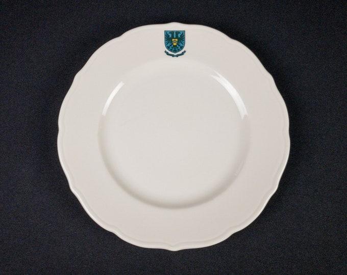 "Rice University Hanszen College Houston 9-5/8"" Dinner Plate Restaurant Ware By Syracuse China Circa 1994"