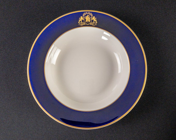"""Baker Hotel 8-3/4"""" Soup Plate Bowl Restaurant Ware By OPCo Syracuse China 1930s-40s"""