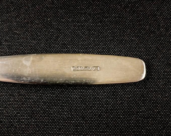 1980s Venezuelan International Airways VIASA 2 Piece Stainless Steel Cutlery Set Knife & Fork