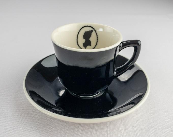Silhouette Pattern Martha Washington Topmark Demitasse Cup & Saucer Restaurant Ware By Syracuse China